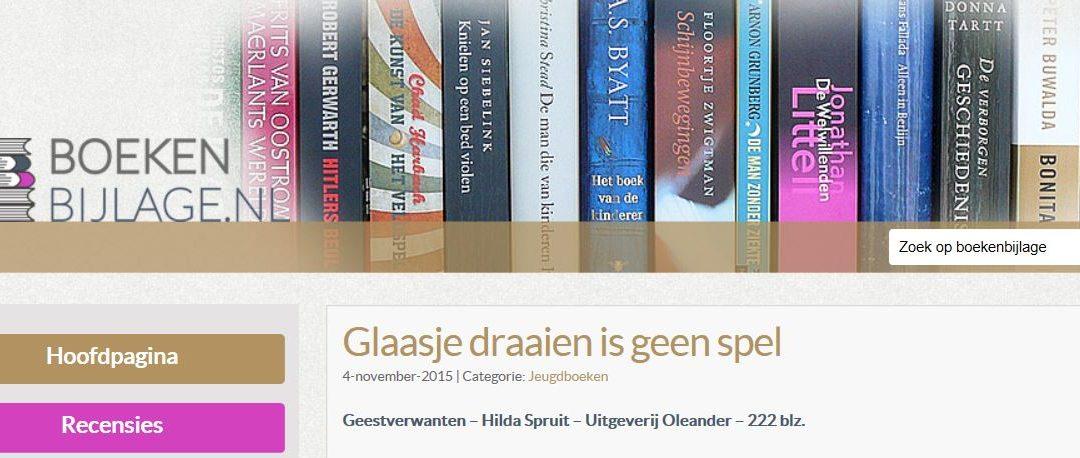 Recensie Geestverwanten op boekenbijlage.nl